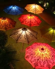 Orange Patio Umbrella Parasols For Some Light And Shade In The Garden