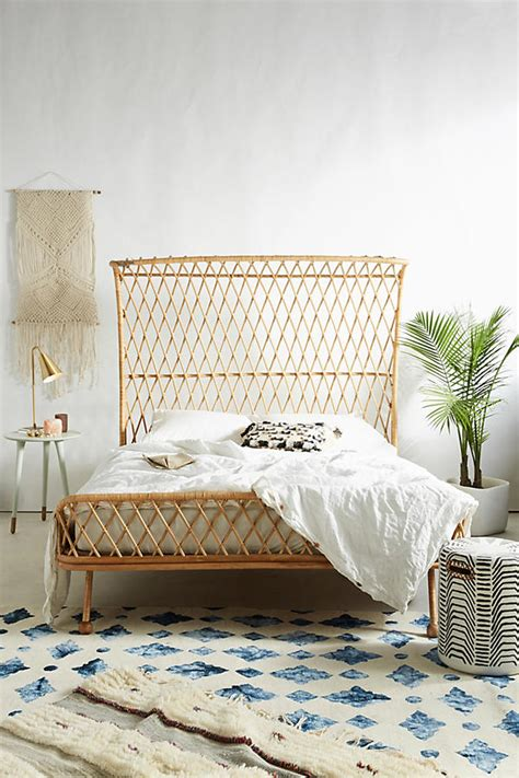 curved designer bed double 73 off curved rattan bed anthropologie