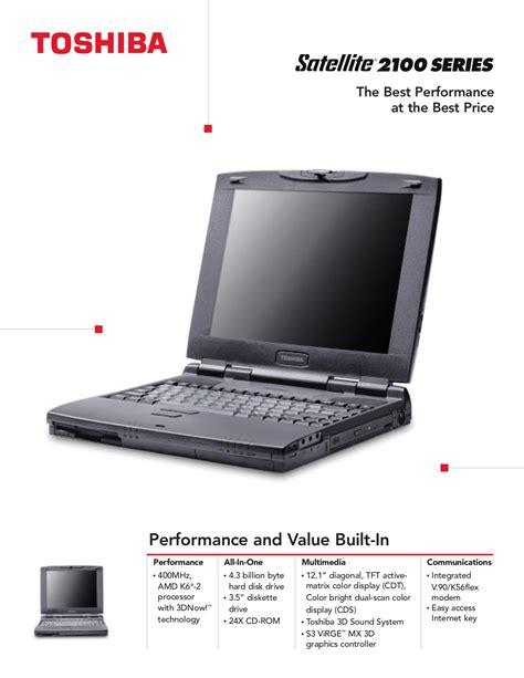 Download Free Pdf For Toshiba Satellite 2100cdt Laptop Manual