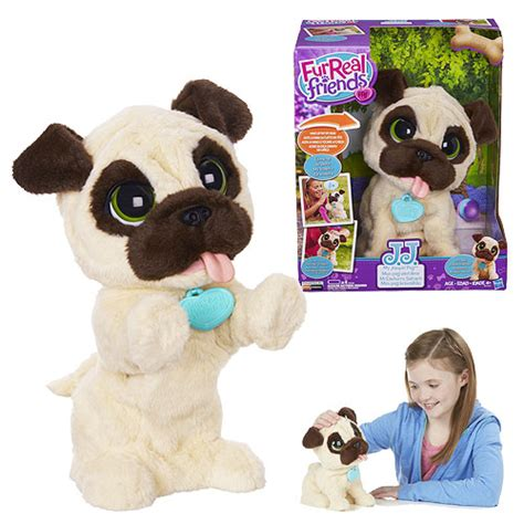 furreal friends pug furreal friends j j my jumping pug hasbro furreal friends plush at