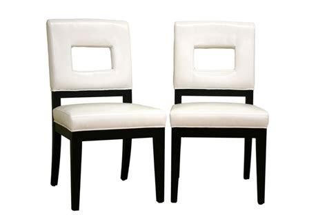 Dining Room Chairs Wholesale Faustino White Leather Dining Chair Set Of 2 Wholesale Interiors