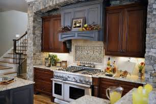 kitchen rural look with stone backsplash girlsonit faux direct