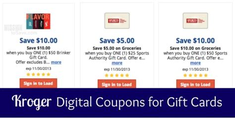 Kroger Gift Card Deals - kroger stack gift card digital coupons with 4x fuel points mission to save