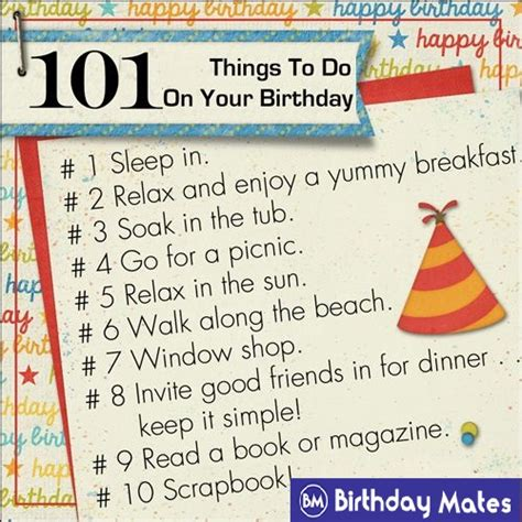 things to do for 101 amazing things to do on your birthday pg 2