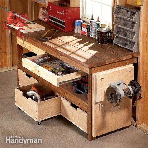 7 Standard Garage Storage System Timber Buy Workbench Overhead Hanging Wall Cabinet Australia Diy Workbench Upgrades Family Handyman