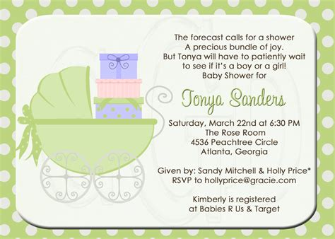 Baby Shower Wording by Design Sprinkle Baby Shower Invitations