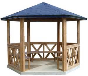 kiosque en bois