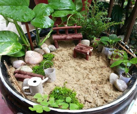 diy miniature garden  steps  pictures