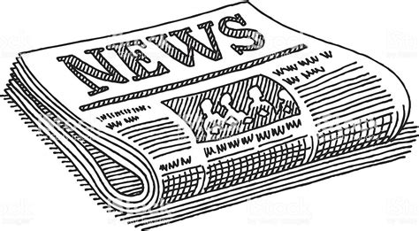 newspaper clipart newspaper drawing stock vector more images of black