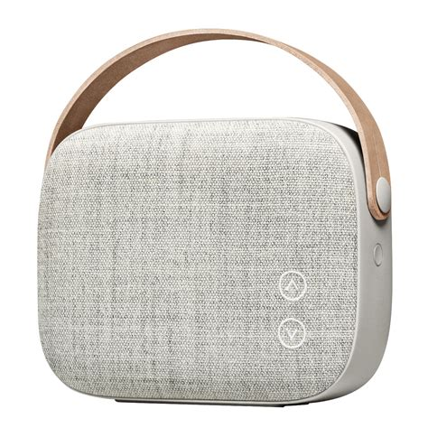 helsinki bluetooth speaker bluetooth fabric leather grey by vifa