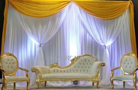 10ft(H) * 20ft(W) Yellow&white Wedding Backdrop wedding