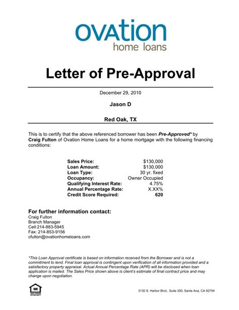 Loan Approval Notification Letter Pre Qualification Template 28 Images Ppq Template Vendor Qualification Documents