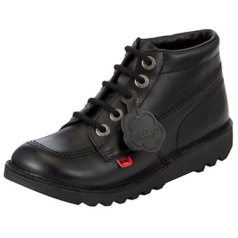 kickers safety boots black buy kickers leather lace up hi boots black lewis