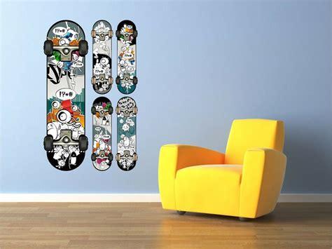 skateboard graffiti teen wall art sticker art vinyl decal