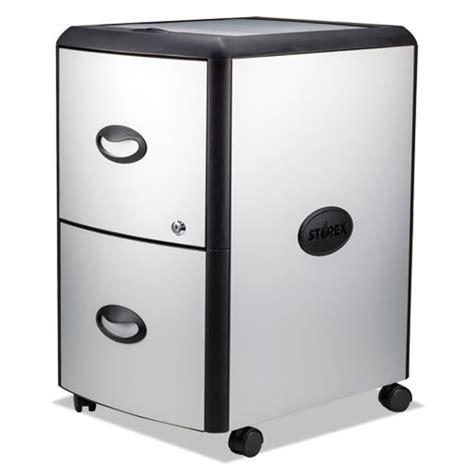 Storex File Drawer by Stx61351u01c Storex Two Drawer Mobile Filing Cabinet Zuma