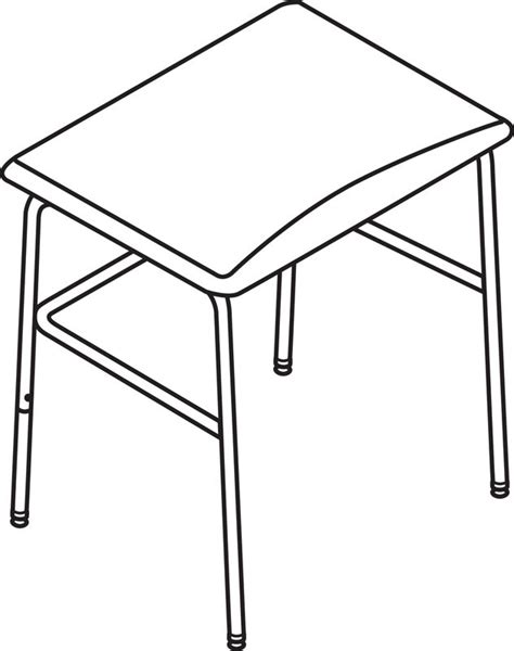 How To Draw A Desk by Desk Line Drawing