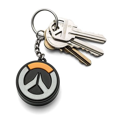 overwatch light up logo keychain thinkgeek