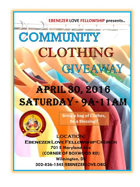 Clothes Sweepstakes - community clothing giveaway april 30 2016