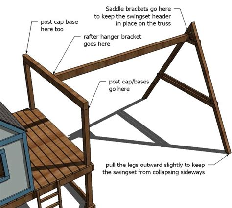 how to build a swing set frame diy swing set playhouse plans plans diy free download