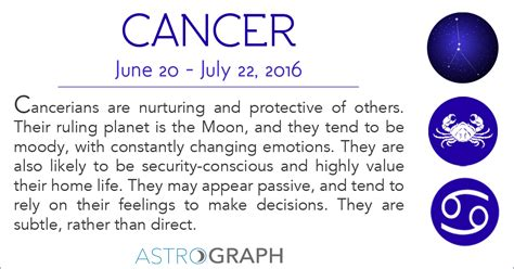 cancer astrology the season of the crab