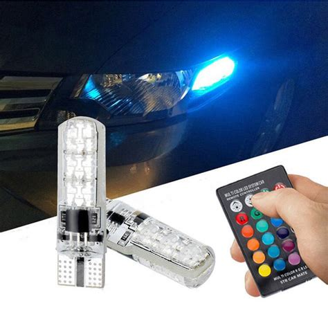 lada rgb kanuoc t10 rgb 194 w5w canbus car clearance light for lada