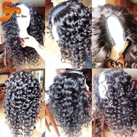 what is the best type of wig to wear for thinning edges 8a curly brazilian u part human hair wigs for black women