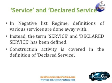 service tax sections list service tax on works contract post negative list