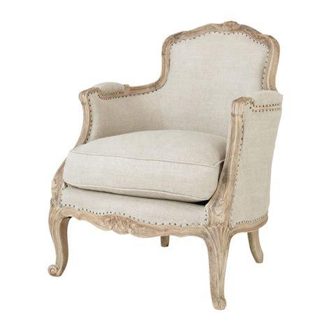 linen armchairs linen armchair maupassant maisons du monde