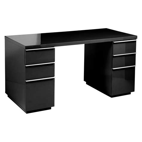 black desk with drawers madison office desk black dwell