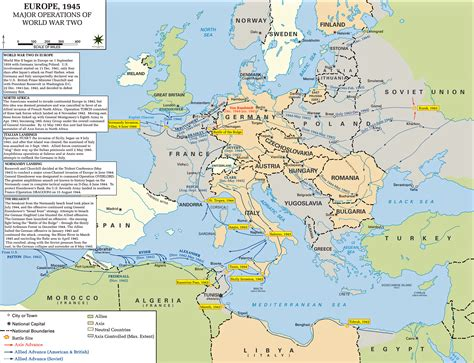 ww2 map map of wwii major operations in europe