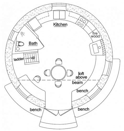 roundhouse floor plan 2 story roundhouse above survival shelter