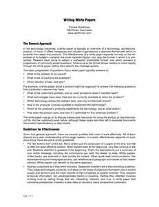 How To Write A White Paper Format White Paper Formatpaper References Paper References
