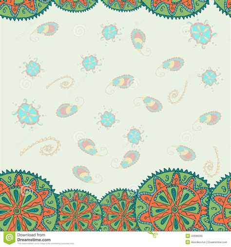 indian pattern vector ai indian pattern stock vector image 44696095