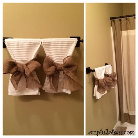 towel hanging ideas for small bathrooms best 25 decorative towels ideas on pinterest bathroom