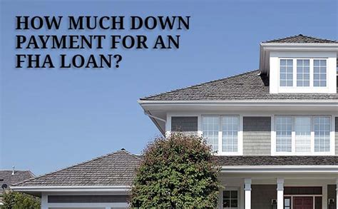 can you build a house with a fha loan fha down payment requirements and advantages