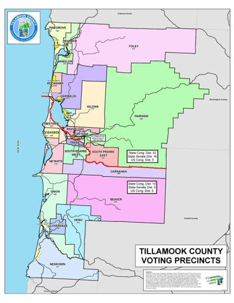map tillamook oregon tillamook county redistricting 2012