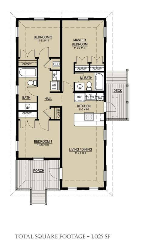 3 floor plan 1025 square 3 bedrooms 2 batrooms on 1 levels house plan 168 house plans