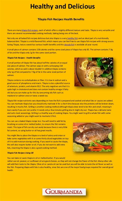 Health Benefits Of Fish by Tilapia Fish Health Benefits