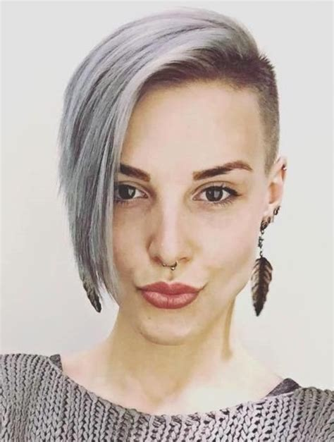 womens hairstyle covers half of her face best 20 shaved hairstyles ideas on pinterest