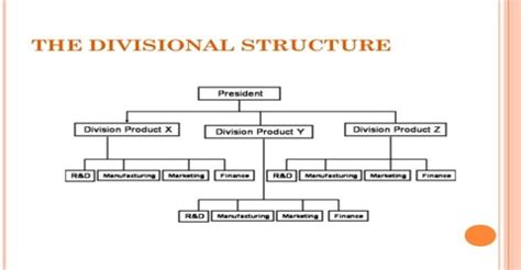divisional structure: definition in terms of business