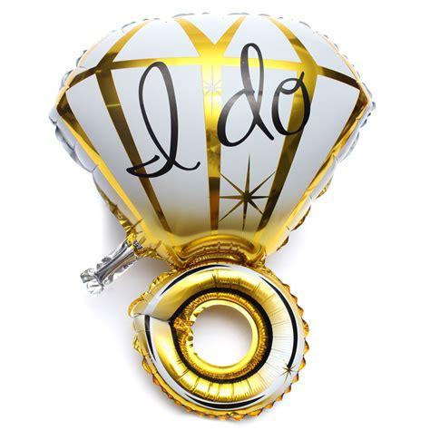 Ring Foil Balloon Blue gold silver big ring foil balloon wedding