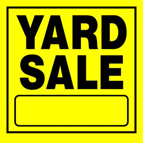 Garage Sales Signs Shop The Hillman 11 In X 11 In Yard Sale Sign At