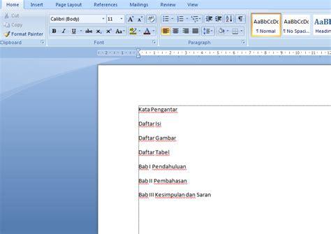 cara membuat daftar gambar pada daftar isi anitya nor azizah cara membuat daftar isi daftar gambar