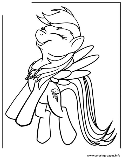 pony rainbow dash coloring pages printable