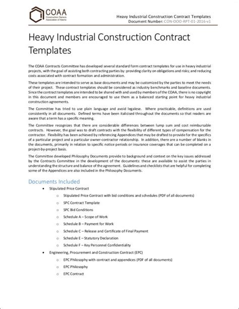 contract important elements important elements of a contract sle templates