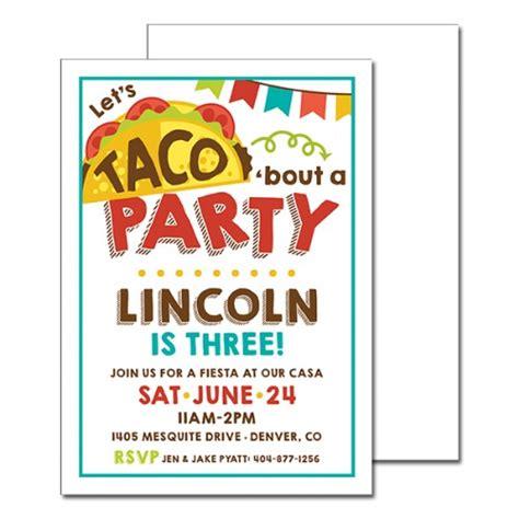 Taco Bout A Party Invitation Taco Invitation Template