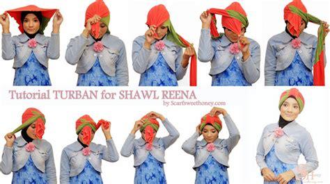 tutorial hijab turban masa kini kreasi jilbab turban segi empat untuk pesta ala dian pelangi