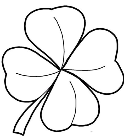 four leaf clovers coloring pages az coloring pages