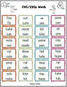 cvvc pattern worksheets freebie cvce list of words to practice and vowel sounds writing literature