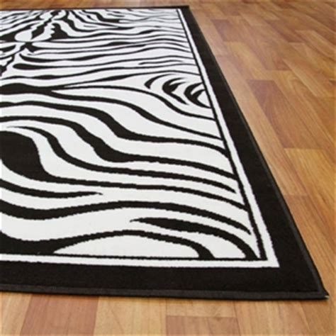 black and white zebra print rug buy modern zebra print black and white rug 230x160cm graysonline australia